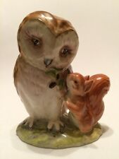 Beatrix Potter Beswick Old Mr Brown 1976 Gold Oval BP-2A
