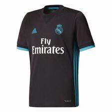 Adidas Fußball Real Madrid CF Trikot Away 2017 2018 Kinder kurzarm schwarz blau