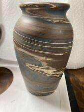 """Wonderful Niloak Mission Swirl 5 1/4"""" Rimmed Vase Excellent"""