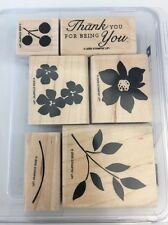 Stampin' Up! Best Blossoms Set Of 6 Wood Mounted Stamp Set 2006 Retired Hostess