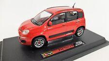MODÈLE AUTO FIAT PANDA BURAGO SOLIDO ROUGE ROUGE 1:24 VOITURE MODEL VOITURE