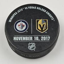 Vegas Golden Knights Warm Up Puck Used 11/10/17 VGK Vs Winnipeg Jets Game