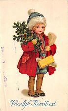 BG8297 kerstfeest fir branch bell  weihnachten christmas greetings netherlands