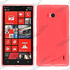 Housses Coque Etui Rouge TPU S Silicone GEL Motif S S-line Vague Nokia Lumia 930