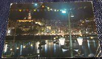France La Cote d'Azur La Vieille-ville vue de Nuit - posted 1965