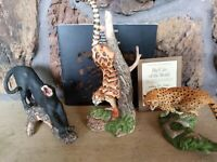 NATIONAL WILDLIFE FEDERATION, FRANKLIN MINT 12 BIG CATS OF THE WORLD SCULPTURES
