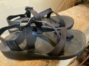 Mens Chaco Chacos Sandals Z/2 Size 11 Black Toe Strap Rafting EUC