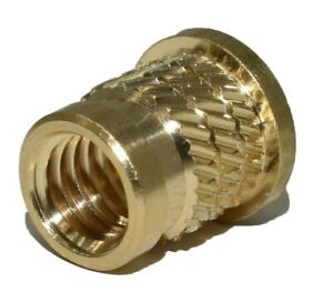 THREADED INSERTS SOLID BRASS KNURLED FLANGED METRIC INSERTS NUTS M3 M4 M5 M6