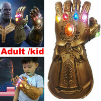 Thanos Gloves Cosplay Avengers 3 Endgame Infinity War Gauntlet LED Kids Gift #
