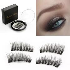 4PC/Pair Triple Magnetic Eyelashes Handmade Reusable False Eye Lashes Extension: