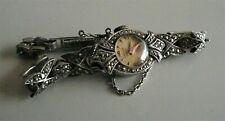 Vintage marcasite ladies DATUM/DATEX mechanical watch.
