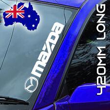 MAZDA sticker decal car ute 4x4 vinyl cut - WHITE 420mm x 70mm RX7 RX8 BT-50