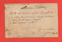 Tarjeta Postal Tipo Sabia 1888 Yonne (J9985)