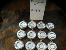 Lot of 12 River Fishing sinkers [Coin] 6oz