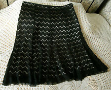 Party skirt by M&S Size 18 Black lace effect over deep cream sheen