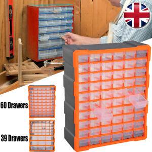 Multi Drawer Small Parts Storage Units Tool Box Plastic Organizer Bins Workshop
