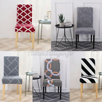 1-6Pcs Stretch Dining Chair Cover Slipcover Removable Seat Protector Party Decor