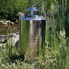 "Moonshine Distiller Stainless Steel Milk Can Boiler - 13 Gallon/2"" 3"" or 4"" lid"