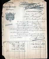 """PARIS (III°) USINE de BRODERIES ARTISTIQUES """"JOLIFIE / BERAUD Succ"""" en 1894"""