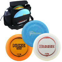 Discraft Disc Set with Bag, Driver, Mid Range, Putter, Multiple Weights & Colors