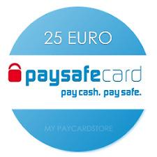 Paysafe Card 25€ EUR // Digitaler Code/Key // Lieferung via Ebay-Email