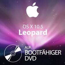 mac OS X 10.5 Leopard Bootfähige DVD Installationsdaten Reparatur Update