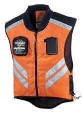 Icon MILITARY SPEC Mens All Season Mesh2 Motorcyle Vest Regular Orange Black NEW