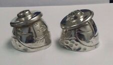 VINTAGE STERLING SILVER MEXICO SALT & PEPPER SHAKERS SEATED MAN WITH SOMBRERO