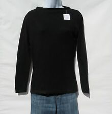 """100% Cashmere A+ Softer Knit Sweater Ladies """"Boat Neck"""" Himalayan Black Size: M"""