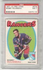 1971-72 O-Pee-Chee #218 Bobby Rousseau | PSA Graded NM 7 | New York Rangers