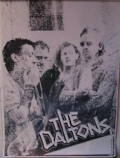 The Daltons - Rare 80s Poster Indie Rock Dark Garage