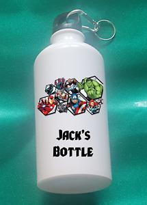 Personalised Avengers Metal water bottle (500ml)