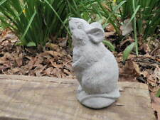 "4"" Tall Cement Rat Mouse Garden Concrete Statue Yard Art Michael Jackson Ben?"
