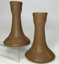 New ListingVintage 1980's Van Briggle Milk Chocolate Brown Candlesticks Candle Holders