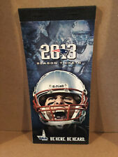 New England Patriots Cover 2013 Ticket Booklet