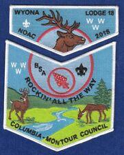 N025 OA BSA Scouts  NOAC 2018  WYONA 18   2 PARTER SET
