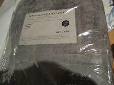 2 West Elm Textured Upholstery velvet Drapes panels blackout 48 X 84 metal New