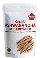 Organic Ashwagandha Root Powder|Withania Somnifera|Indian Ginseng # 4,8,16 oz #