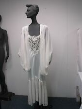 Vtg Jonquil Made Usa White Sexy Hollywood Glamour Wedding Nightgown &Robe Size S