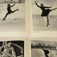 Old German Winter Sports Photo Book 1932 w/48 gravures Ski Skiing Ice Skating ++