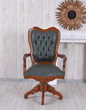 Fauteuil en Cuir Vintage Chaise de Bureau Table à Accoudoirs Chesterfield