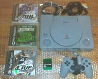 Sony PlayStation 1 PS1 Console SCPH-5501 3 Games, 1 Controller, Memory Card Good