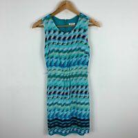 Marcs Womens Dress 6 Tie Dye Sleeveless Round Neck Zip Closure Elastic Waist