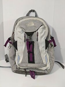 The North Face Surge Backpack & Laptop Bag White Purple Gray Silver