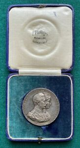 Antique Solid Silver Kaiser Wilhelm Hohenzollern Germany Anniversary Medal 1912
