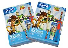 Two New in Box Oral-B Rechargeable Kids Toothbrush Crest Disney Toy Story Woody