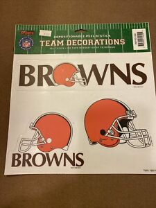 VINTAGE CLEVELAND BROWNS PEEL AND STICK DECAL USA MADE NEW