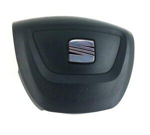 Genuine Seat Leon 1P steering wheel driver centre 5P0880201AE. SRS Bag.  C6