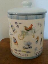Hallmark Marjolein Bastin 6″ Canister Cookie Jar with Lid Blue Skies Birdsong
