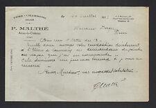 """AINAY-le-CHATEAU (03) FER CHARBON BOIS """"P. MALTHE"""" en 1933"""